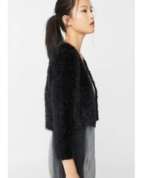 Mango Faux Fur Jacket