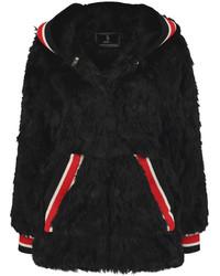 Goen J Faux Fur Hooded Coat