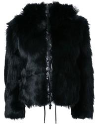 Kru Fur Reversible Hooded Jacket
