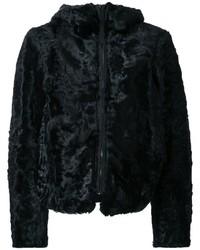 Kru Reversible Fur Zip Up Jacket