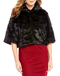 Alex Marie Lillie Faux Fur Elbow Sleeve Jacket