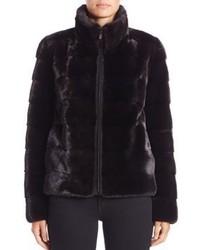 Michael Kors Michl Kors Collection Horizontal Mink Fur Jacket