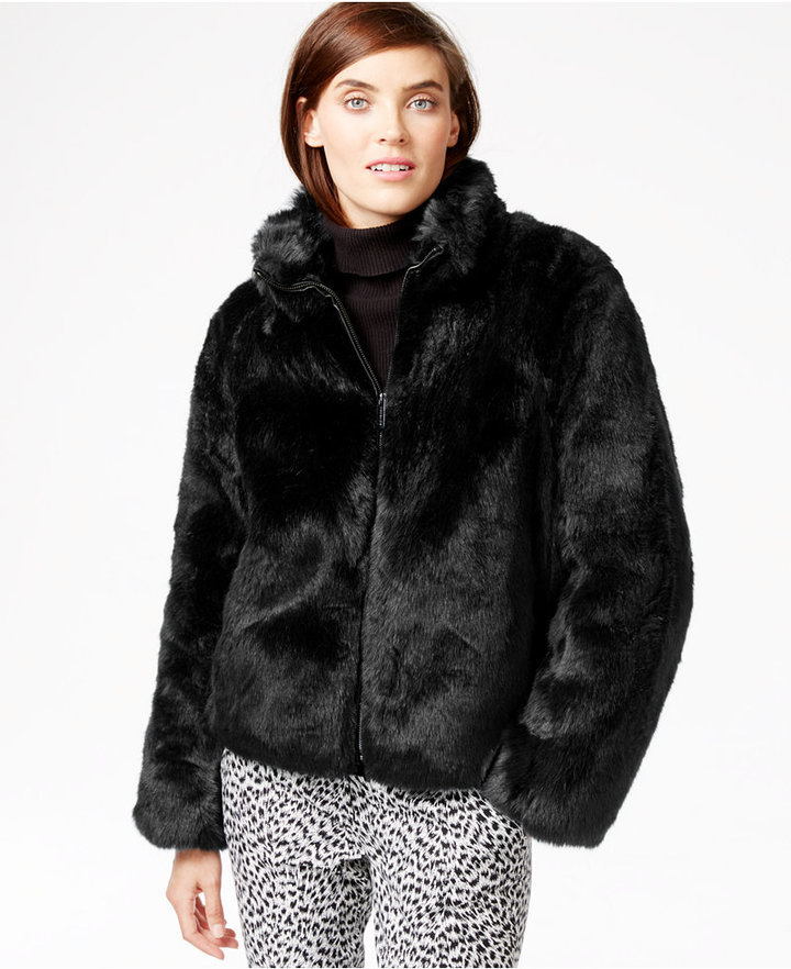 MICHAEL Michael Kors Michl Michl Kors Short Faux Fur Coat | Where ...