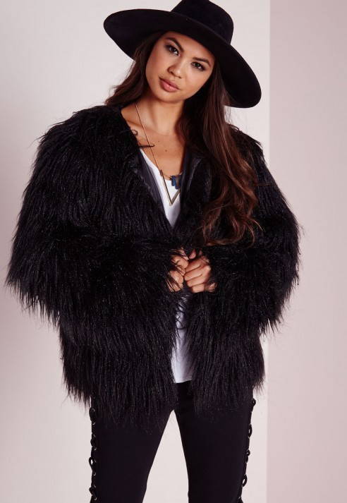 Missguided Mongolian Faux Fur Coat Black | Where to buy & how to wear