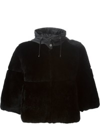 P.A.R.O.S.H. Cropped Fur Coat