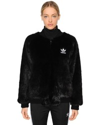 Sst faux fur bomber jacket medium 6448684