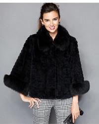 The Fur Vault Fox Sheared Rabbit Fur Three Quarter Sleeve Jacket