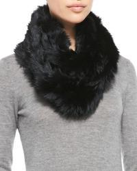 Black Fur Scarf