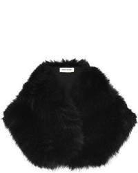River Island Black Faux Fur Tippet Scarf