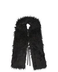 MM6 MAISON MARGIELA Black Hairy Scarf