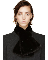 Marni Black Mink Fur Collar
