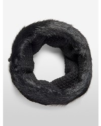Calvin Klein Lurex Faux Fur Snood Scarf