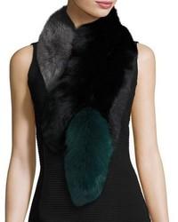 Charlotte simone popsicle fox fur colorblock scarf medium 1054603