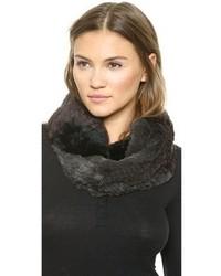 Jocelyn Colorblock Knitted Fur Infinity Scarf