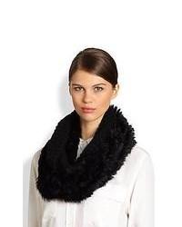 Diane von Furstenberg Delila Popcorn Fur Circle Scarf Black