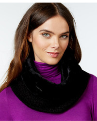 Calvin Klein Faux Fur And Knit Neckwarmer Scarf