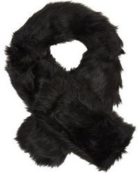 Hat Attack Faux Fur Scarf Black