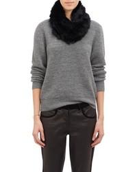 Barneys New York Fur Cowl Black