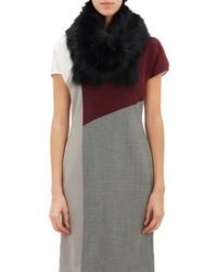 Barneys New York Fur Scarf Black