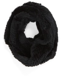 Genuine rabbit fur infinity scarf medium 383367
