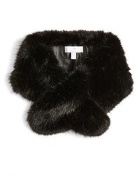 Halogen Faux Fur Pull Through Scarf