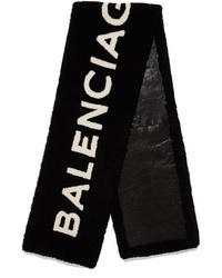 Balenciaga Intarsia Shearling Scarf