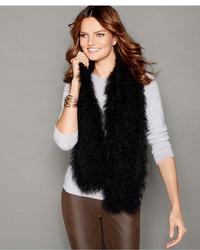 The Fur Vault Knitted Tibetan Lamb Fur Scarf