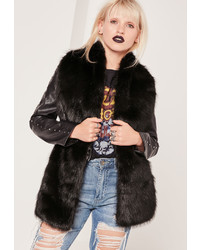 Missguided Oversized Faux Fur Scarf Black