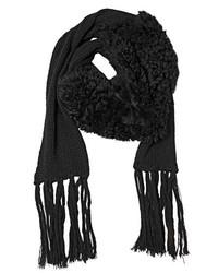 Patchwork Merino Fur Wool Scarf