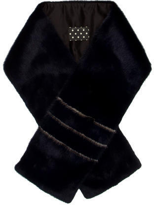 Marc Jacobs Striped Fur Stole