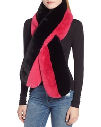 Echo Colorblock Faux Fur Stole