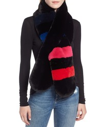 Echo Stripe Faux Fur Stole