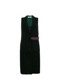 Black Fur Sleeveless Coat