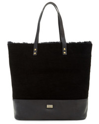 Brooklyn genuine shearling lined suede tote medium 1213570