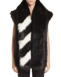 Off-White Faux Fur Gilet Vest