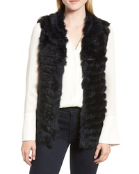 La Fiorentina Genuine Rabbit Fur Acrylic Knit Vest