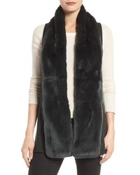 Linda Richards Genuine Rabbit Fur Knit Vest