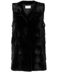 Long fur gilet jacket medium 6458351