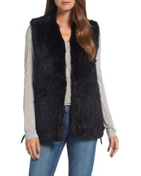Love token genuine rabbit fur vest medium 6458322