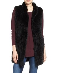 Love Token Long Genuine Rabbit Fur Vest