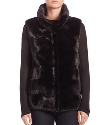 Michael Kors Michl Kors Collection Horizontal Mink Fur Vest