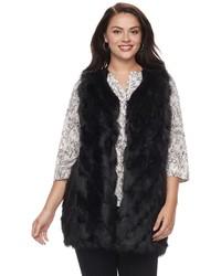 Napa Valley Plus Size Napa Valley Faux Fur Vest