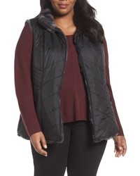 Gallery Plus Size Reversible Faux Fur Vest