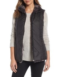 Reversible faux fur vest medium 4952515