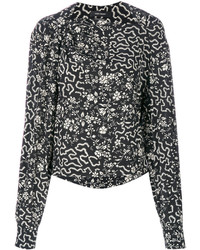 Isabel Marant Geometric And Floral Print Blouse