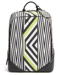MCM Tobias Rehberger Medium Geometric Coated Canvas Backpack