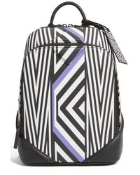 MCM Tobias Rehberger Small Geometric Coated Canvas Backpack