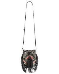 Rebecca Minkoff Wonder Phone Canvas Crossbody Bag Black