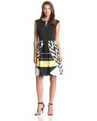 Keyhole aztec printed dress medium 53253