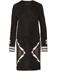 Black Geometric Coat